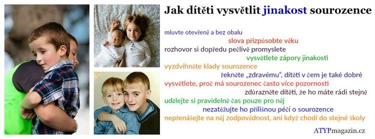 Jak dítěti vysvětlit jinakost sourozence